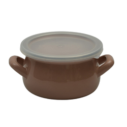 Cook and Store Mini-Enamel Pots Can Also Be Used as Sauce Pan in Milk Coffee Color