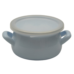 Cook and Store Mini Enamel Pots Can Also Be Used as Sauce Pan in Cook and Store Mini-Enamel Pots Can Also Be Used as Sauce Pan in Powder Blue