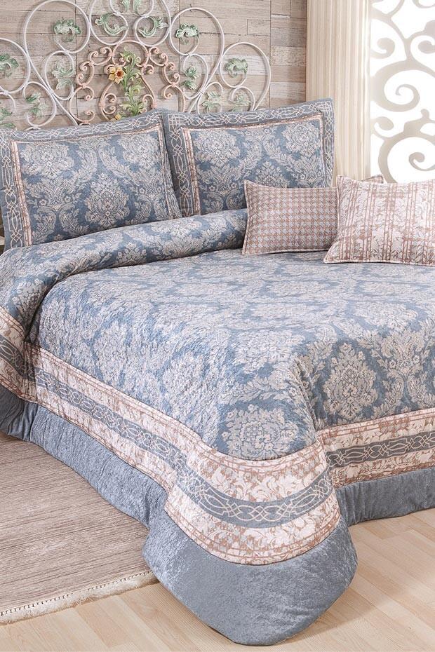 EVCİLİK - Sadabad Blue Double Bedspread
