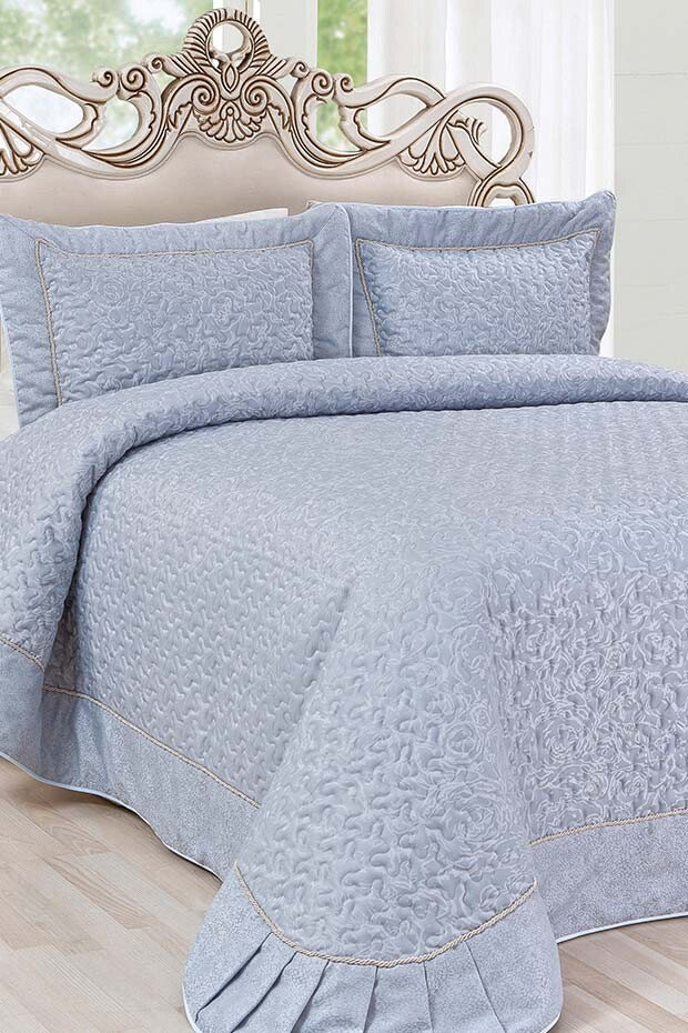 EVCİLİK - Dream Series Double Bedspread in Turquoise