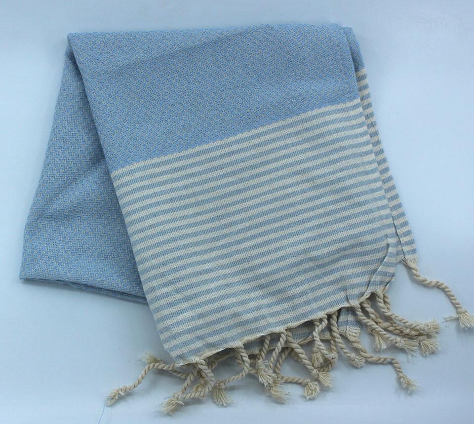 EVCİLİK - Helen Peshtemal Hand And Hair Towel in Baby Blue