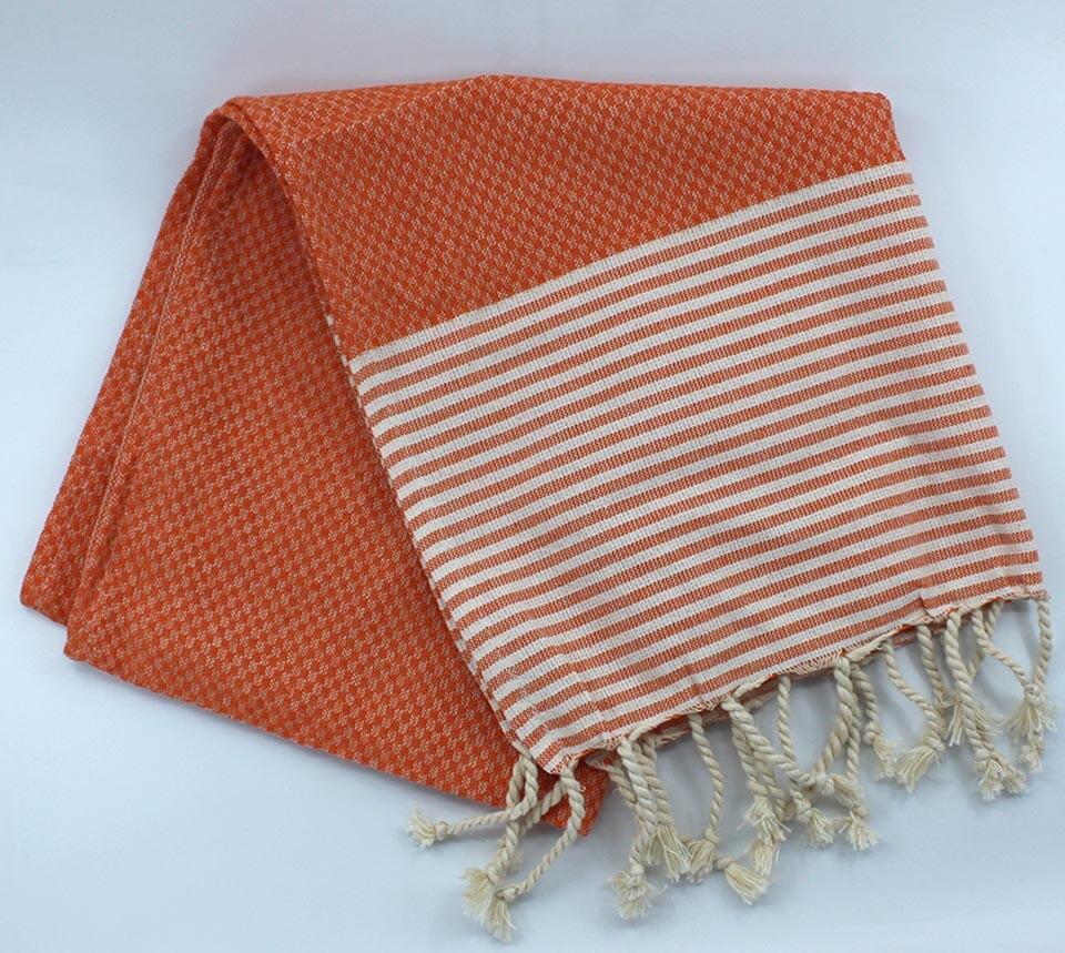 EVCİLİK - Helen Peshtemal Hand And Hair Towel in Orange