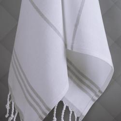İkili Mutfak Havlusu Gri Üzerine Beyaz/Beyaz Üzerine Gri Kombin