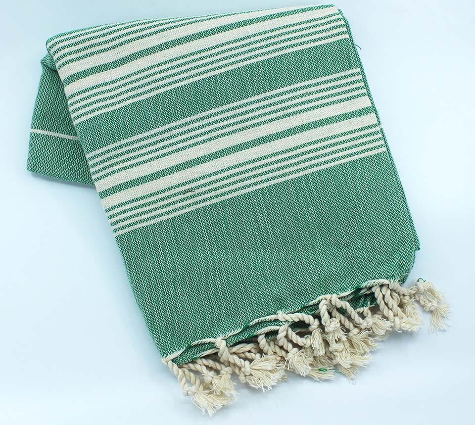 EVCİLİK - İnce Çapraz Türk Havlusu Yeşil