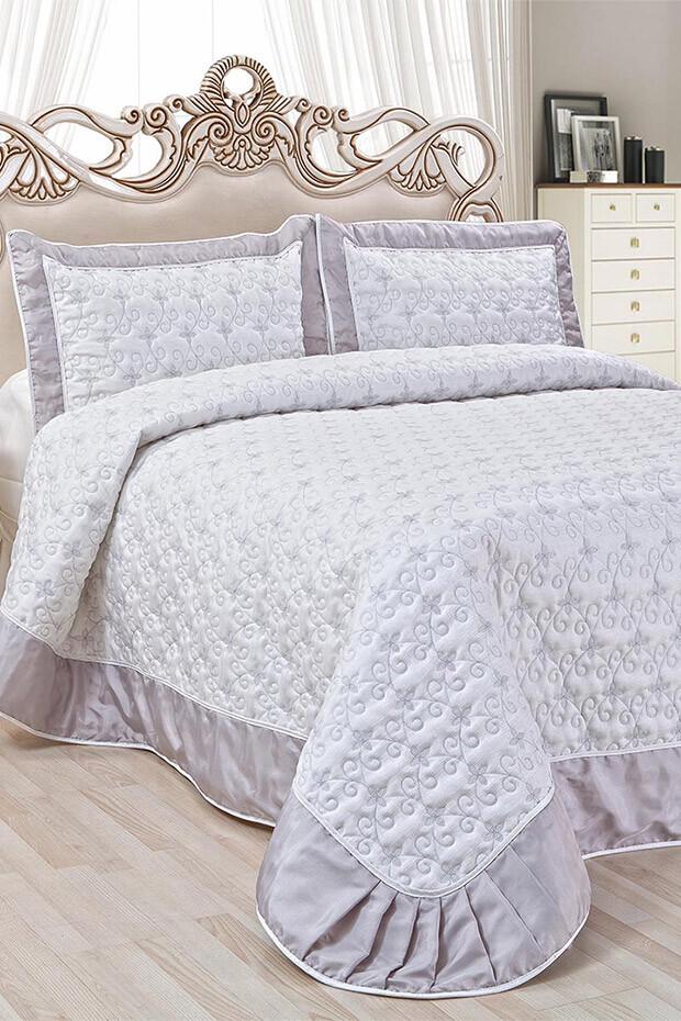 EVCİLİK - Julliette Double Bedspread in Grey