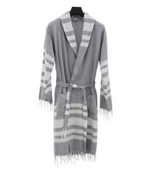 EVCİLİK - Peshtamal Unisex Robe Dark Grey
