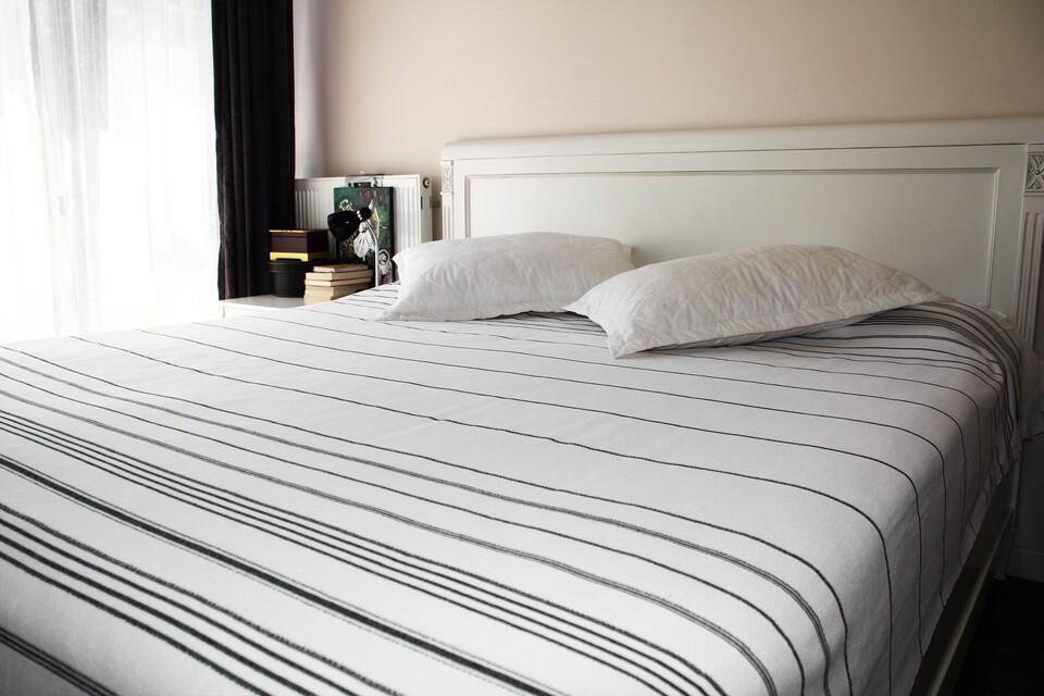 EVCİLİK - Peshtamal Weaving Organic Multipurpose White with Grey Stripes