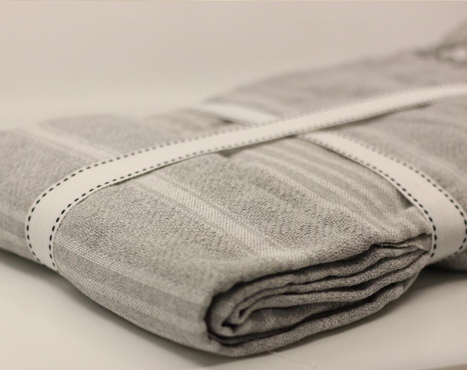 EVCİLİK - Peshtamal Weaving Organic Multipurpose Cover Grey