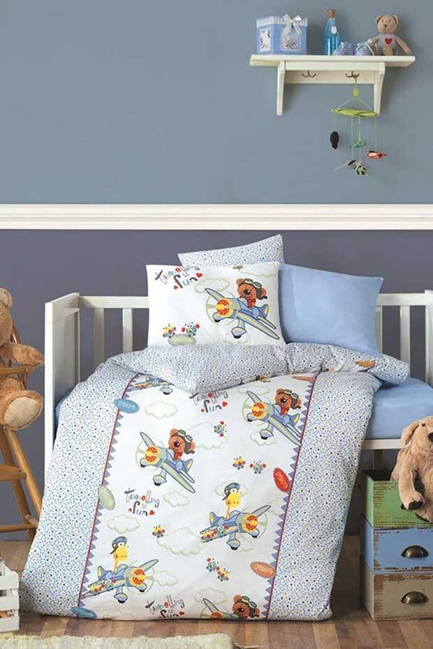 EVCİLİK - Pilot Blue Baby Sleeping Set for the Boys