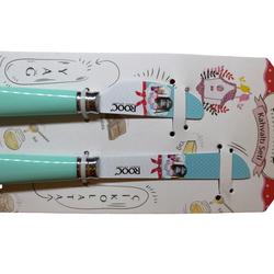 EVCİLİK - Rooc İkili Kahvaltı Bıçak Seti Su Yeşili