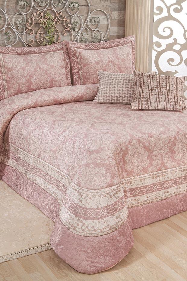 EVCİLİK - Sadabad Powder Pink Double Bedspread