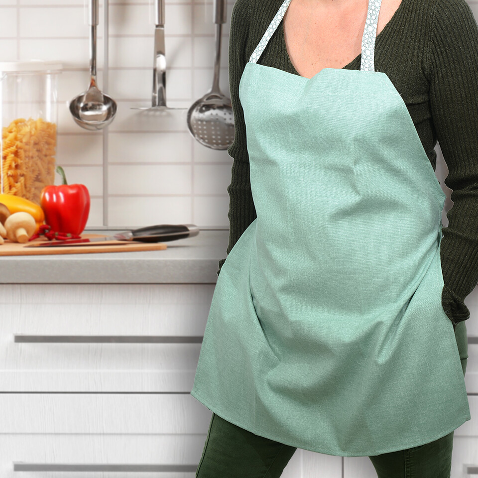 EVCİLİK - Trend Kitchen and Working Apron in Green
