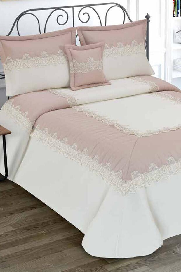 EVCİLİK - Tuana Double Bedspread Powder Pink
