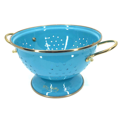 EVCİLİK - Turquoise Enamel Strainer Big Size