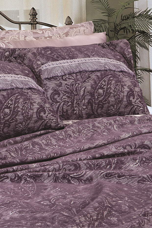 EVCİLİK - Victoria Double Bedroom Suite in Damson Color